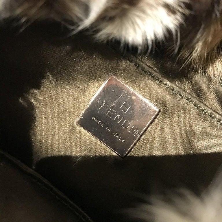 Fendi Fur Mini Baguette  For Sale 4