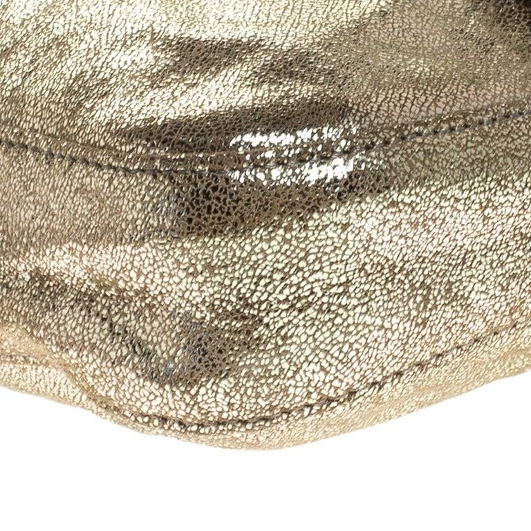 Fendi Gold Faux Leather Baguette Shoulder Bag 6