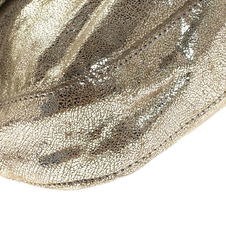 Fendi Gold Faux Leather Baguette Shoulder Bag 5