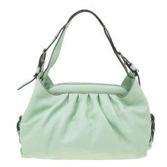 Fendi Green Leather Doctor Frame B Bag