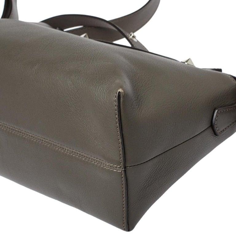 Fendi Grey/Black Leather Medium By The Way Boston Bag 6