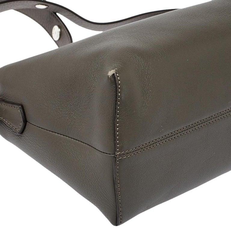 Fendi Grey/Black Leather Medium By The Way Boston Bag 7