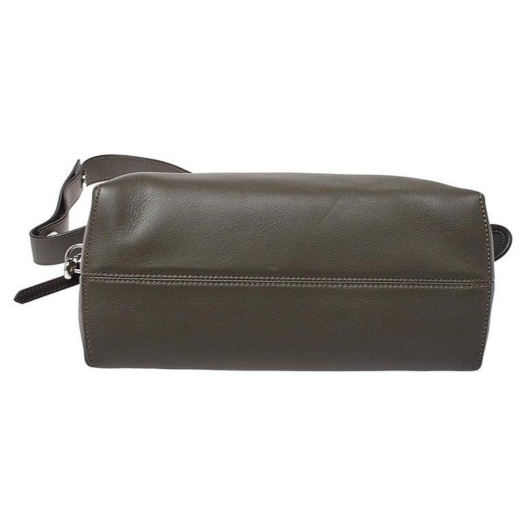 Fendi Grey/Black Leather Medium By The Way Boston Bag 1