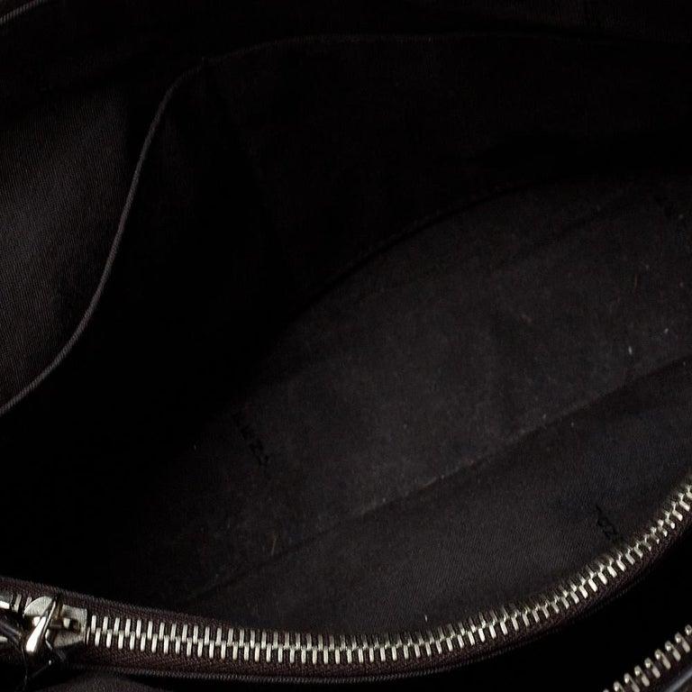 Fendi Grey/Black Leather Medium By The Way Boston Bag 3