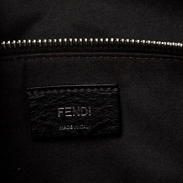 Fendi Grey/Black Leather Medium By The Way Boston Bag 4