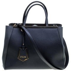 Fendi Grey Leather Medium 2Jours Tote