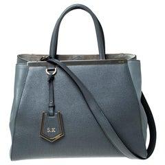 Fendi Grey Leather Medium 2jours Tote