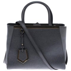Fendi Grey Leather Mini 2jours Tote