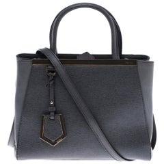 Fendi Grey Leather Mini 2jours Tote