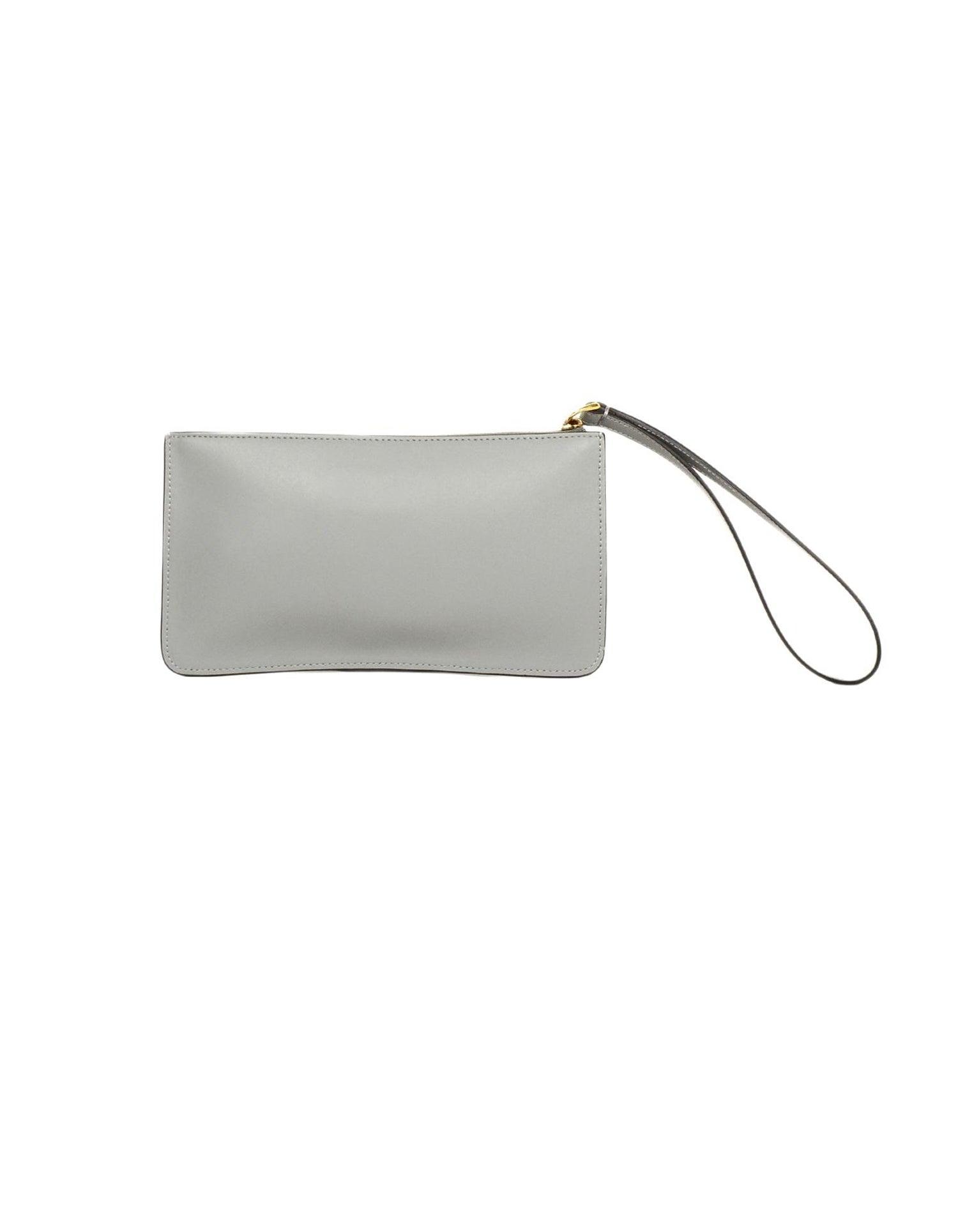 92eb50c0bb24 Fendi Grey Leather Multicolor Studded Liberty Wristlet Bag For Sale at  1stdibs