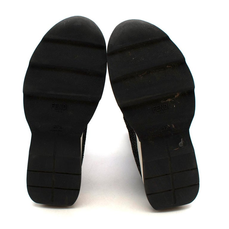 Fendi Grey Lurex Sock Trainers - Size EU 37.5 For Sale 3