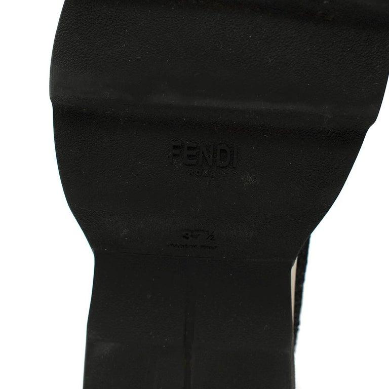 Fendi Grey Lurex Sock Trainers - Size EU 37.5 For Sale 4