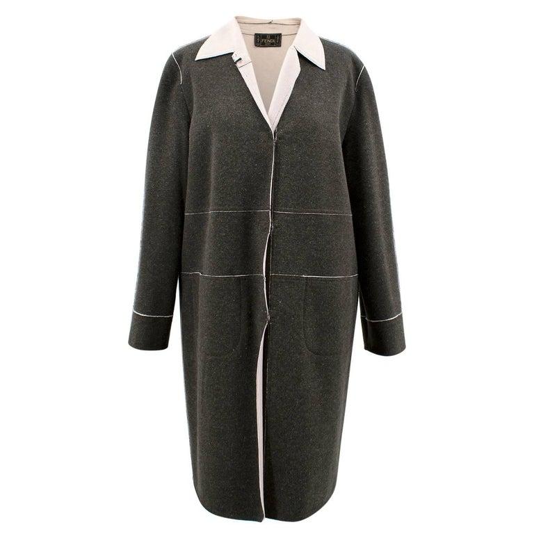 Fendi Grey Wool Coat