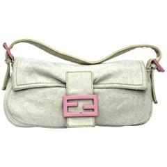 Fendi Heavenly Cotton Shoulder Bag