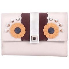 Fendi Hypnoteyes Trifold Wallet Embellished Leather