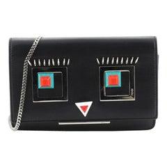 Fendi Hypnoteyes Wallet on Chain Leather