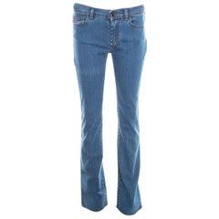 Fendi Indigo Denim Straight Regular Fit Jeans S