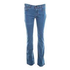 Fendi Indigo Denim Straight Regular Fit Jeans S