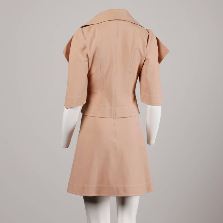 Women's Fendi Jacket + Skirt Suit Ensemble For Sale