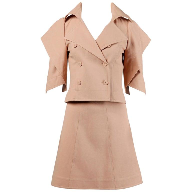 Fendi Jacket + Skirt Suit Ensemble For Sale