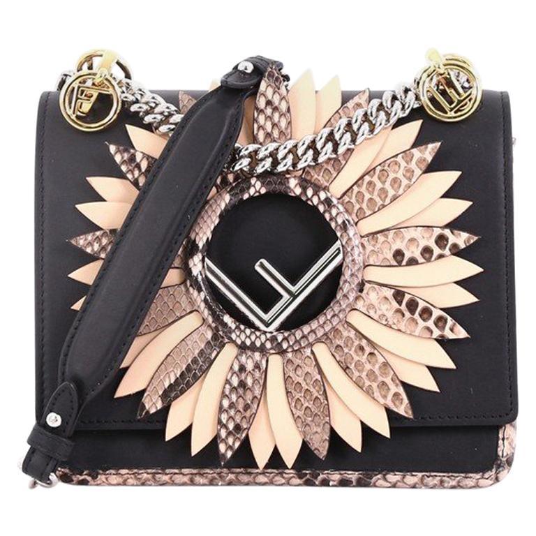 8c2fe6f8f208 Fendi Kan I F Shoulder Bag Embellished Python Small For Sale at 1stdibs