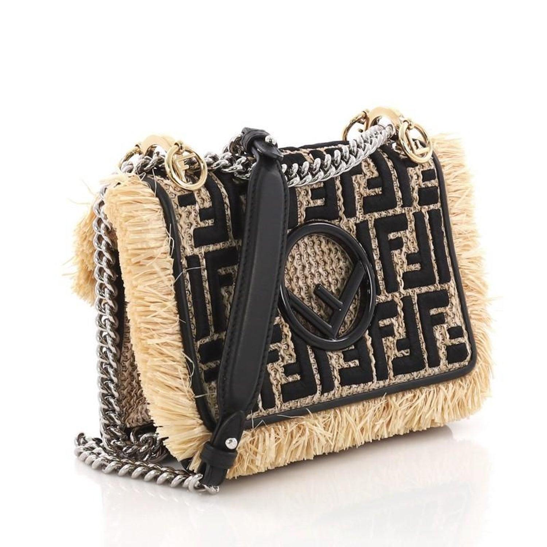 c0c3243c3472 Fendi Kan I F Shoulder Bag Embroidered Raffia Small at 1stdibs