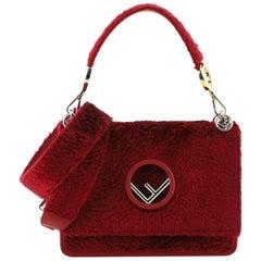 Fendi Kan I F Shoulder Bag Velvet Medium