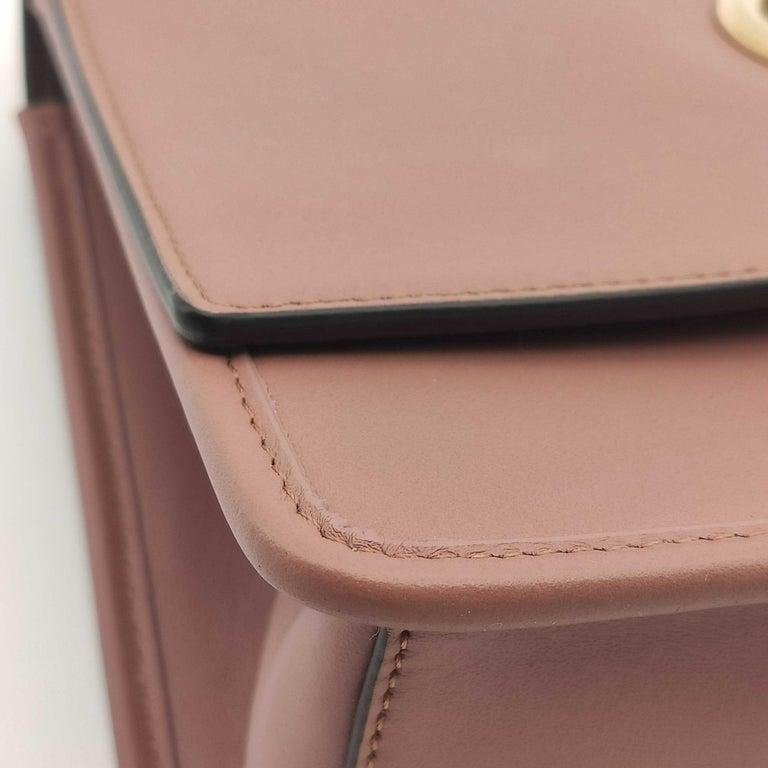 FENDI Kan I Handbag in Pink Leather 4