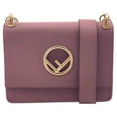 FENDI Kan I Handbag in Pink Leather