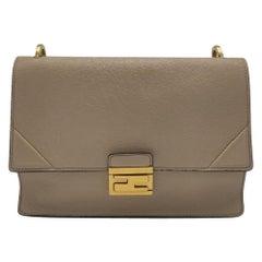 FENDI Kan U Shoulder bag in Beige Leather
