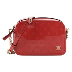 Fendi Karligraphy Camera Bag Embossed Patent