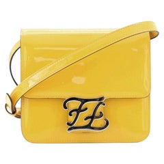Fendi Karligraphy Crossbody Bag Patent