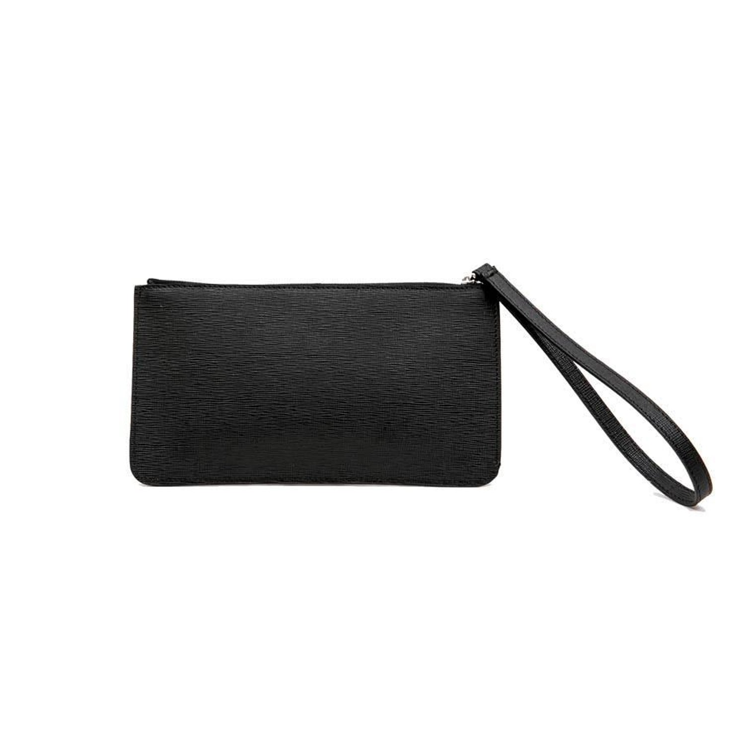 e6f12fbccc9d FENDI  Karlito  by Karl Lagerfeld Clutch in Black Studded Leather at 1stdibs