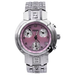Fendi Ladies Stainless Steel Pink Dial Watch