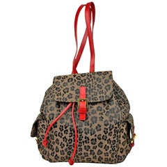 Fendi Leopard Backpack