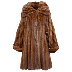 Fendi Light Brown Mink Swing Coat