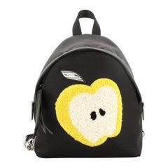 Fendi Light Bulb Backpack Nylon with Shearling Mini