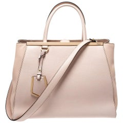 Fendi Light Pink Leather Medium 2Jours Tote