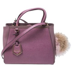 Fendi Lilac Leather Mini 2jours Tote