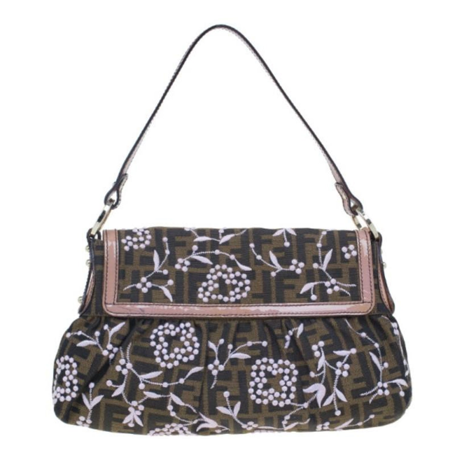 d268346a585a Fendi Limited Edition Zucca Borsa Embroidered Chef Bag For Sale at 1stdibs