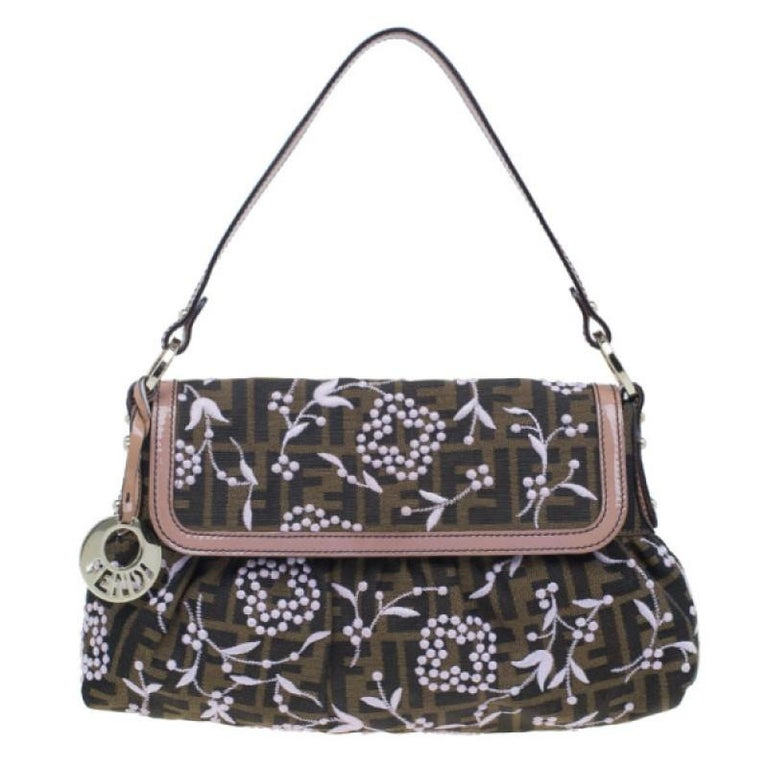 Fendi Limited Edition Zucca Borsa Embroidered Chef Bag For Sale at 1stdibs 10c4bfdf95542