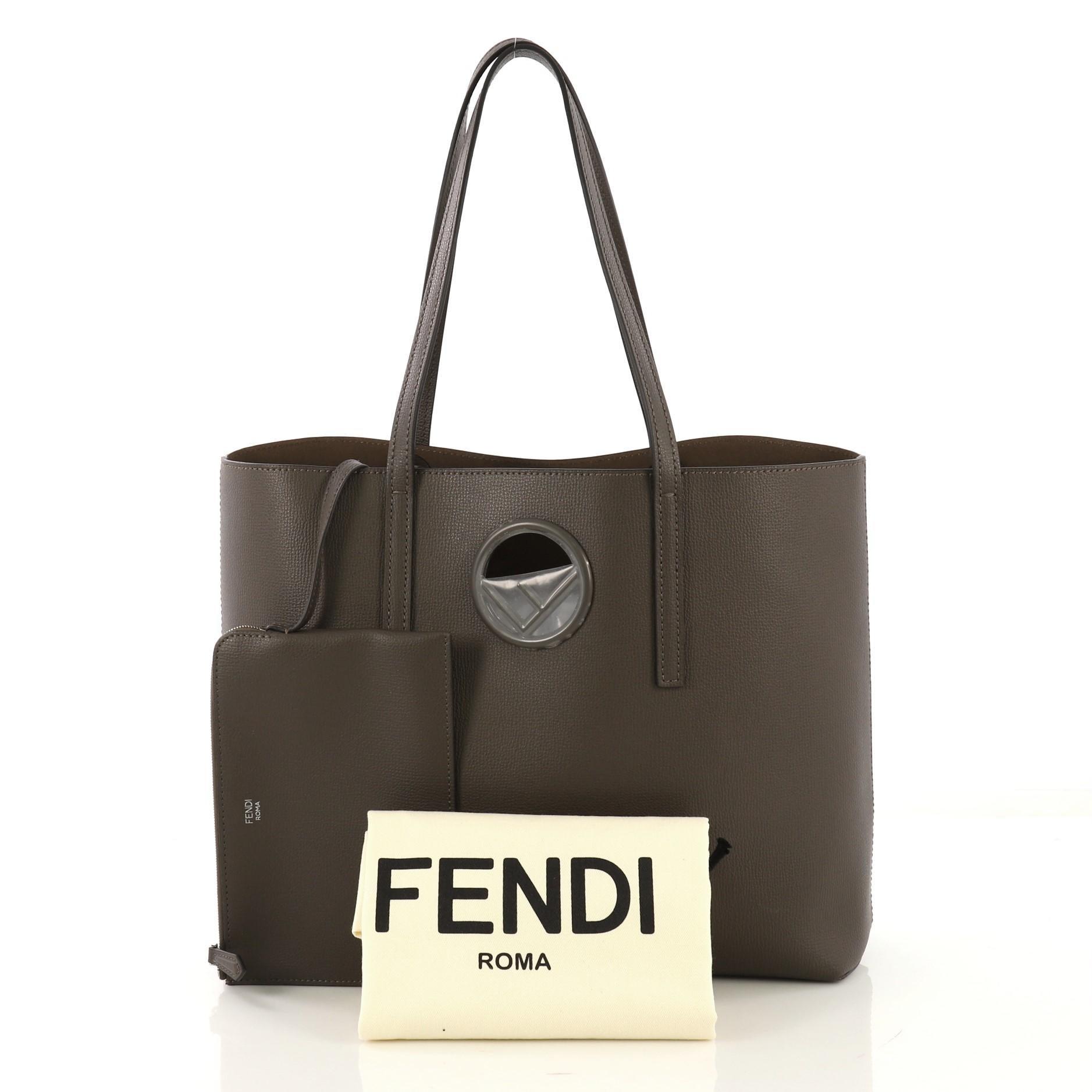 e0544e5a6a Fendi Logo Shopper Tote Leather