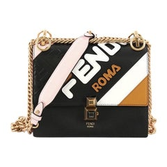 Fendi Mania Kan I Bag Inlaid Leather Small