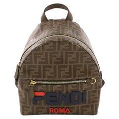 Fendi Mania Logo Backpack Zucca Coated Canvas