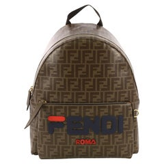 Fendi Mania Logo Backpack Zucca Coated Canvas Medium