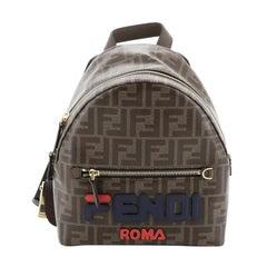 Fendi Mania Logo Backpack Zucca Coated Canvas Mini