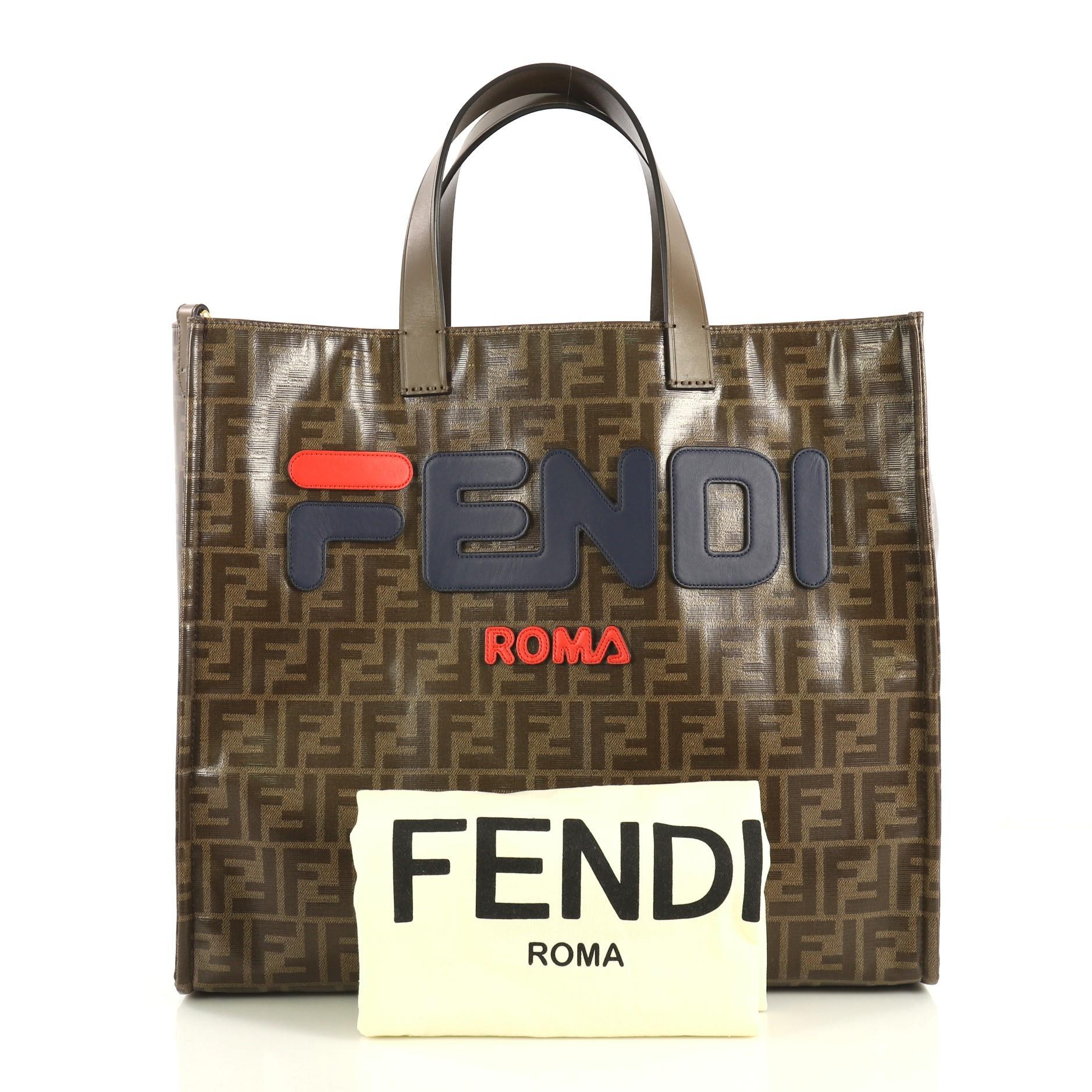 fendi zucca shopper tote cheap for discount 515f658fc