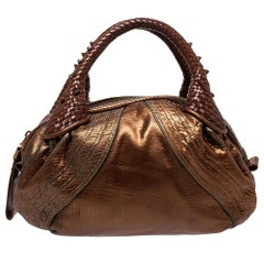 Fendi Metallic Leather Mini Spy Hobo