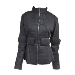 Fendi Military Quilted Space age Black Jacket