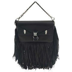 FENDI mini baguette Shoulder bag in Black Leather
